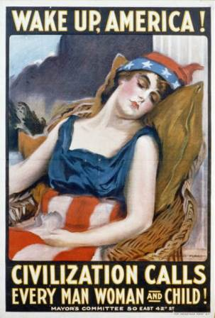 Wake Up America, James Montgomery Flagg, 1917